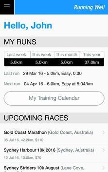 Running Well poster