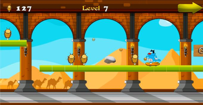 Oggy Runner Game 2016 screenshot 2