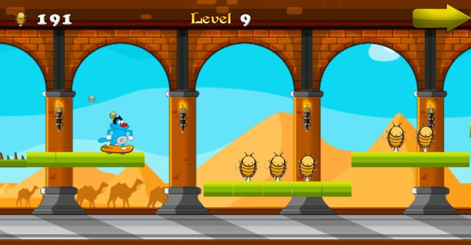 Oggy Runner Game 2016 apk screenshot