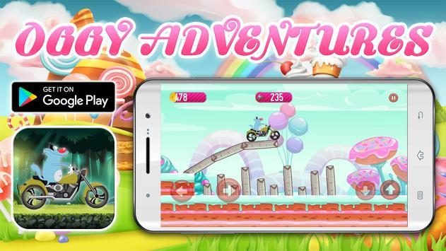 Crazy Motorbikes Adventures with Oggy screenshot 6