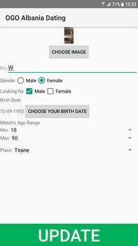 Albania Dating Site - OGO screenshot 1