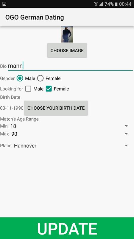 German dating website