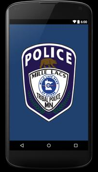 Mille Lacs Tribal Police poster