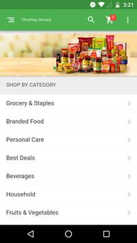 OhoShop Grocery App poster