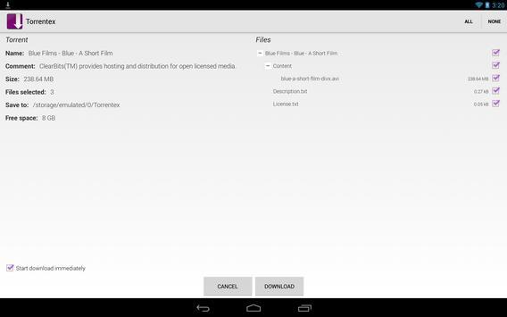 Torrentex captura de pantalla 8