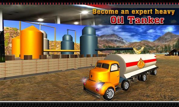 Oil Tanker Transporter Truck poster