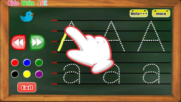 Kids write ABC apk screenshot