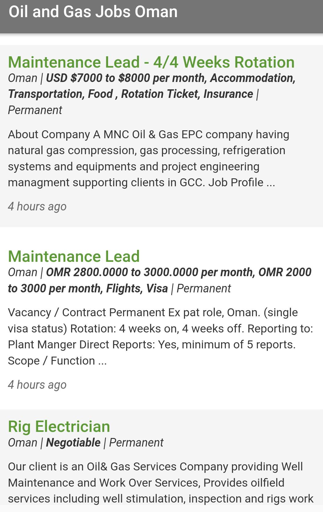 Oil and Gas Jobs Oman for Android - APK Download