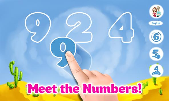Learning numbers for toddlers - educational game poster