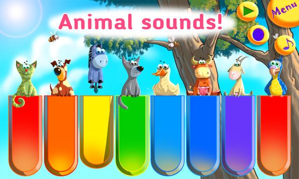Baby Zoo Piano with Music for Toddlers and Kids apk screenshot