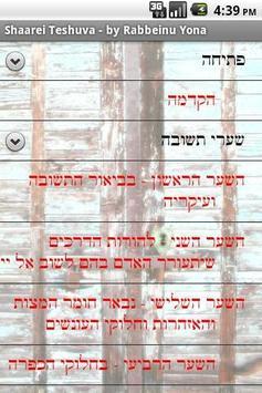Jewish Books - Shaarei Teshuva poster