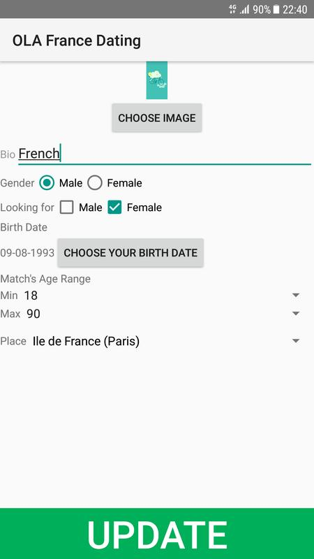 French dating service