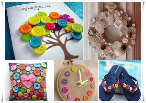 DIY Button Craft Tutorial poster