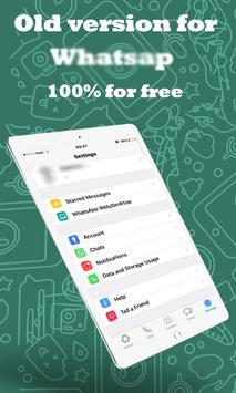 Old version whatsapp guide apk screenshot