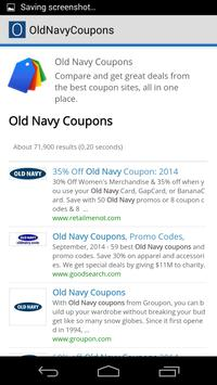 Old Navy Coupons poster