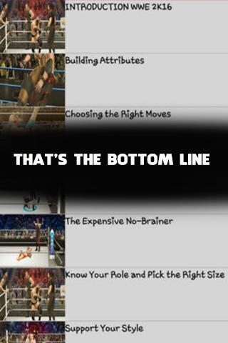 Guide for WWE 2K16 GamePlay poster