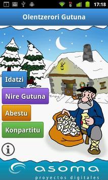 Olentzero gutuna poster