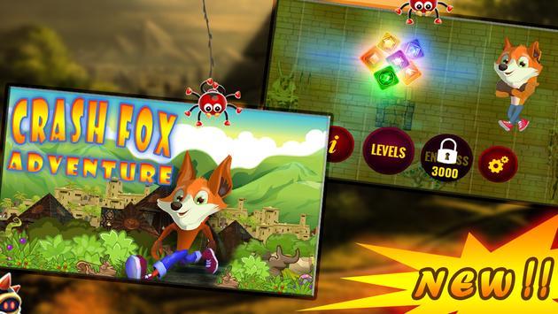 Crash fox Adventure pyramid apk screenshot