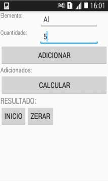 Calculos Químico apk screenshot