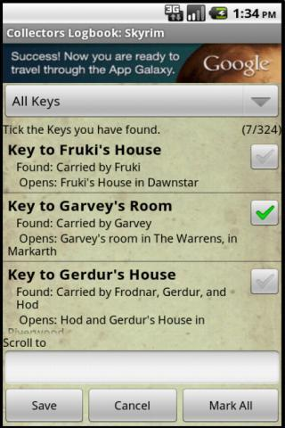 Collectors Logbook: Skyrim for Android - APK Download
