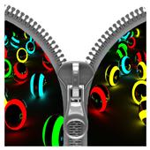 3D Colorful Balls Zipper icon
