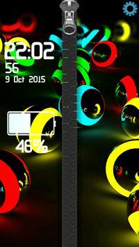 3D Colorful Balls Zipper poster