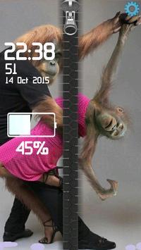 Monkeys Romantic Zipper poster