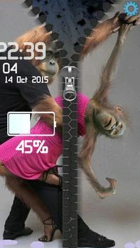 Monkeys Romantic Zipper screenshot 1