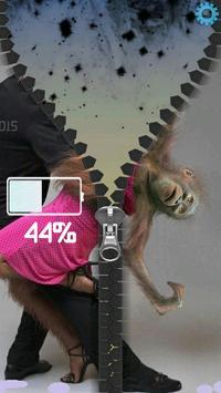 Monkeys Romantic Zipper screenshot 3