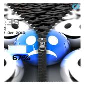 3D Smilies Zipper icon