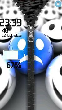 3D Smilies Zipper screenshot 1