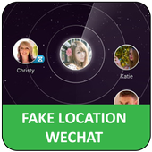Fake location for wechat icon