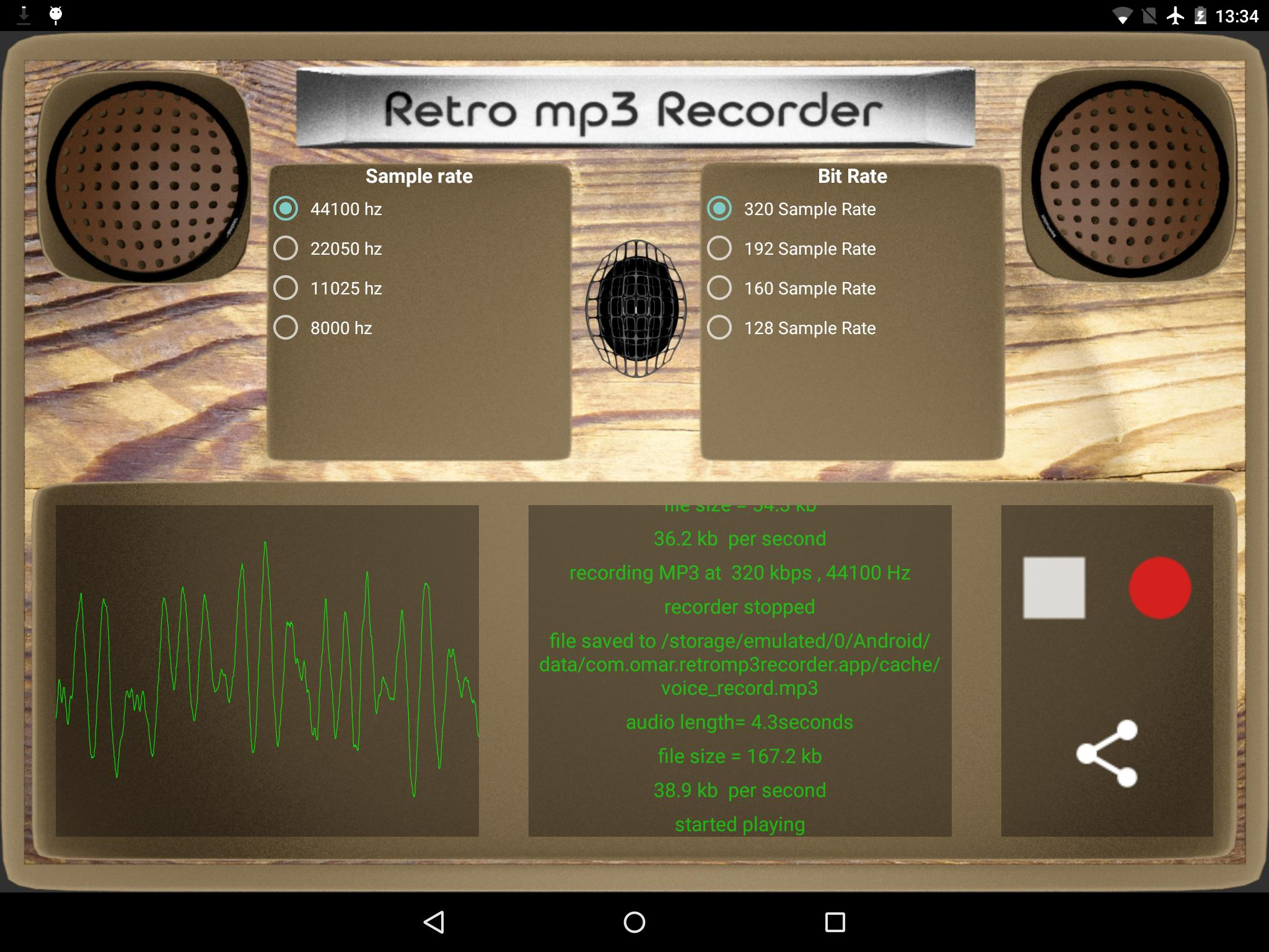 Retro MP3 recorder for Android - APK Download