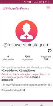 Followers to instagram apk screenshot