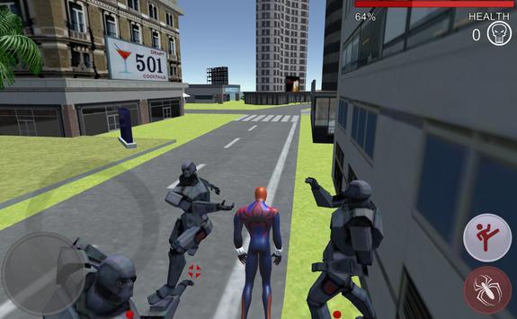 Hero battle 3D Robot vs Spider apk screenshot