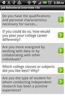 Job Behavioral Interview 150 screenshot 1
