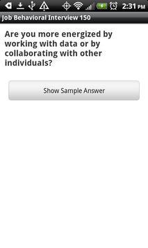 Job Behavioral Interview 150 screenshot 2
