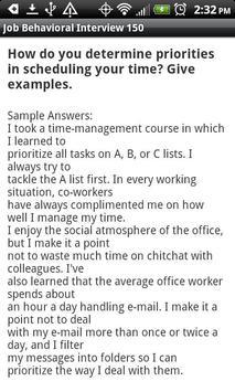 Job Behavioral Interview 150 screenshot 3