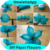 DIY Easy To Make Paper Flower icon