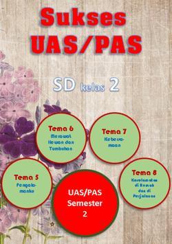 Sukses UAS SD Kelas 2 semester 2 poster