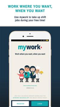 mywork• Shift Jobs On Demand poster