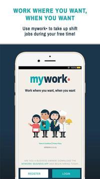mywork• Shift Jobs On Demand poster