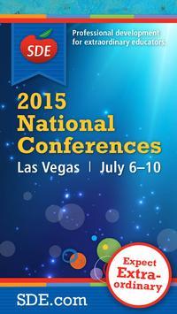 SDE National Conferences poster