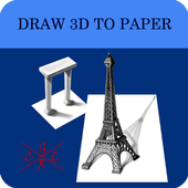 Draw 3D to Paper icon