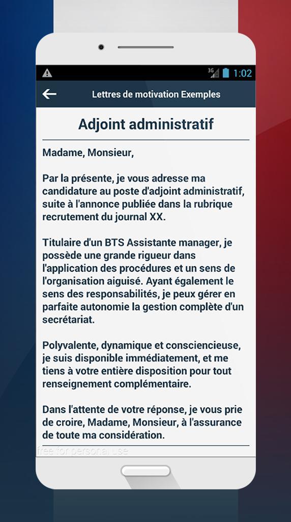 Lettres De Motivation Exemples For Android Apk Download