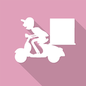 on demand Food Delivery icon