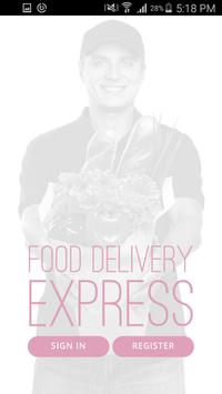 on demand Food Delivery poster