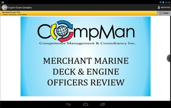 CompMan Maritime Exam Reviewer (Demo) poster
