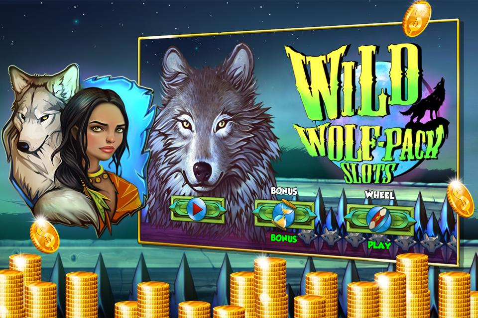 Wild Wolf-Pack Slot Machine poster