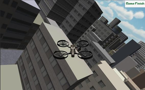 Drone City Simulation 3D poster